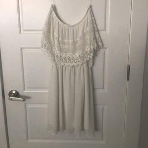 White strapless boutique dress